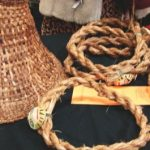 A hat and cedar ropes for traditional food preparation.