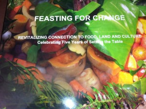 Celebration book cover: Feasting for change